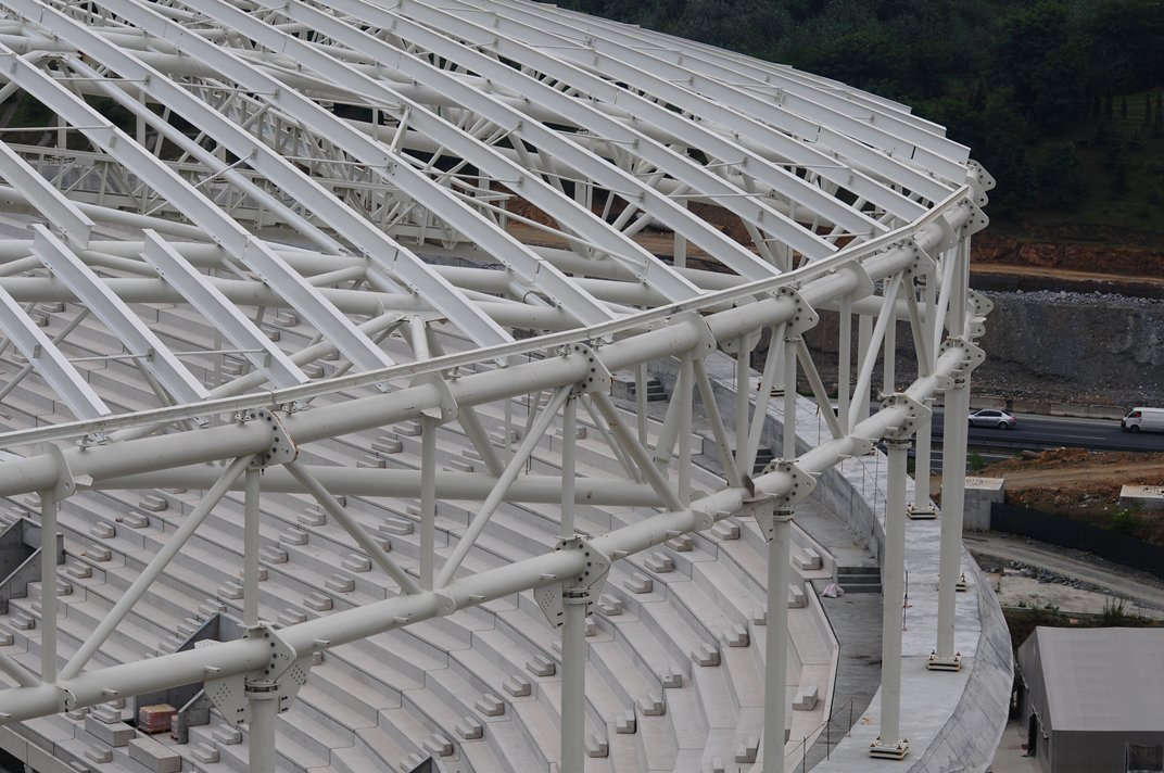 GALATASARAY SEYRANTEPE STADIUM ROOF STEEL STRUCTURE (TURKEY)