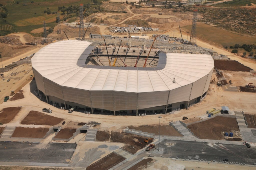 MERSIN STADIUM ROOF STEEL STRUCTURE (2012)