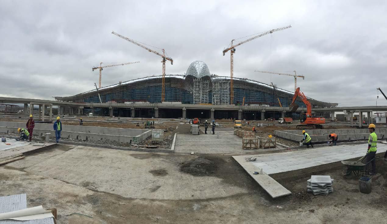ASHGABAT AIRPORT MAIN TERMINAL BUILDING FACADE STEELS (2016)