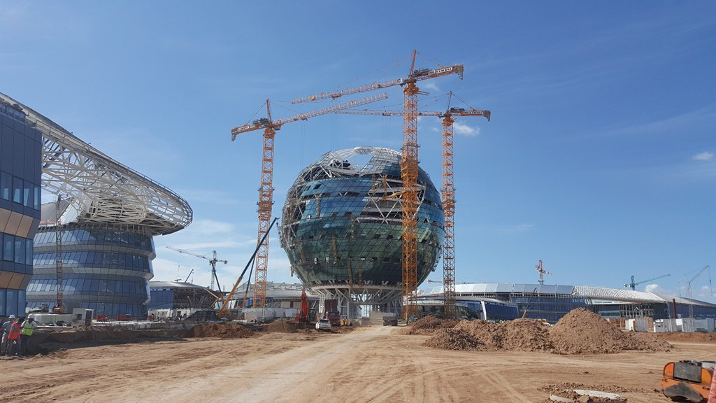 ASTANA GLASS SPHERES OF SECONDARY STEEL PRODUCTION (2016)