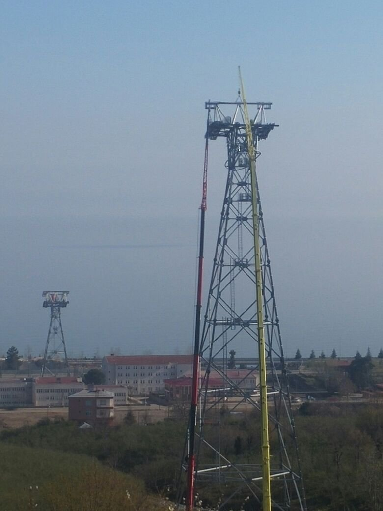 BESIKDUZU TELEFERIC LINE TOWERS (2016)