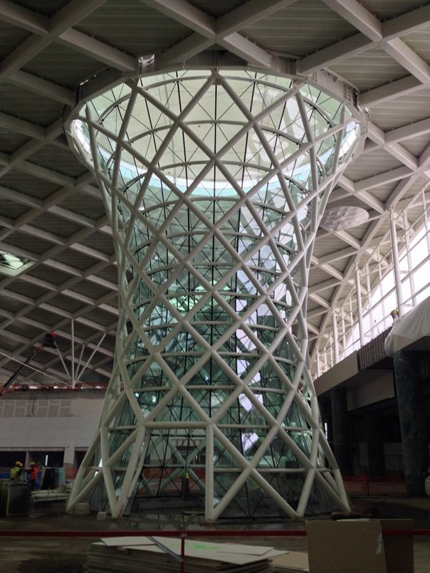 IZMIR-ADNAN MENDERES AIRPORT ARCHITECTURAL STEEL TOWER (2013)