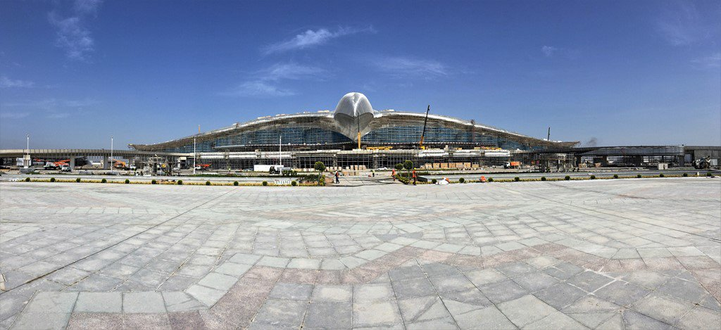 ASHGABAT AIRPORT MAIN TERMINAL BUILDING FACADE STEELS (2016)